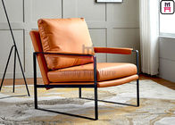 Metal Frame Unfolder Leather 0.55cbm Upholstered Sofa Chair