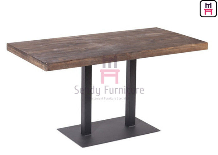 Durable Restaurant Dining Table Indoor 3/4/5cm Thickness With Solid Wood Face