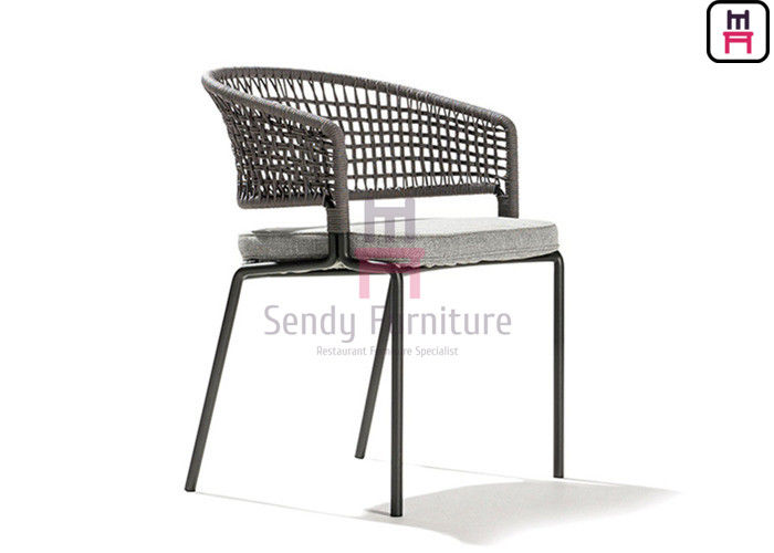 Aluminum 0.38cbm PE Rattan Waterproof Cushion Chair 61*55*H80cm
