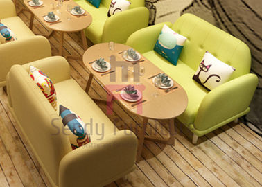 Macarons Colorful Restaurant Booths For Home , Japanese Style Fabric Booth Bench Seating